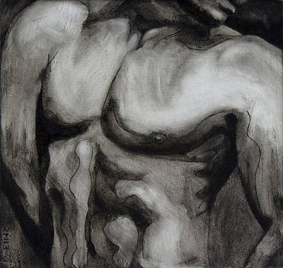 Painting - Male Torso IIi by Rudy Nagel
