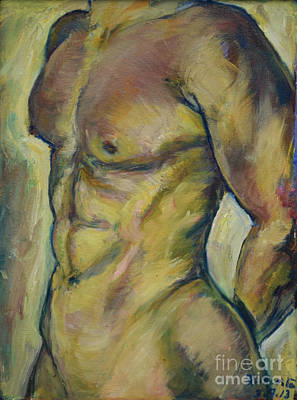 Painting - Nude Male Torso by Raija Merila