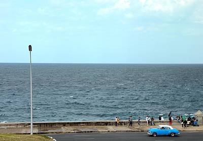 Photograph - Malecon And Car by Steven Richman