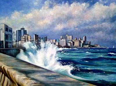Painting - Malecon Havana by Philip Corley