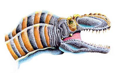 Tarbosaurus Photograph - Maleevosaurus Dinosaur by Deagostini/uig