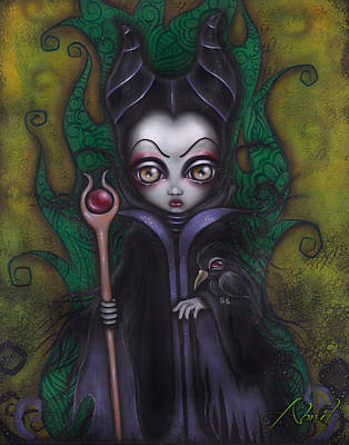 Maleficent Painting - Maleficent  by Abril Andrade Griffith