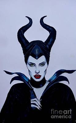 Justin Moore Drawing - Maleficent by Justin Moore