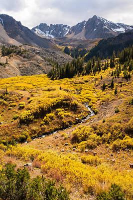 Malemute Peak In Autumn Art Print by Adam Pender