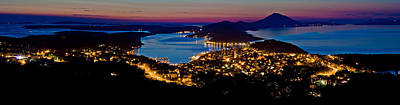Photograph - Mali Losinj Bay Panoramic View At Dusk by Brch Photography