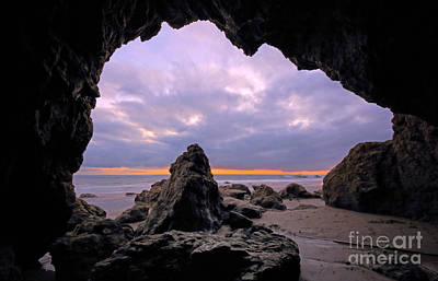 Photograph - Malibu Beach Cave by Charline Xia