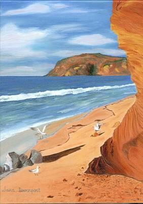 Malibu Painting - Malibu Beach by Sara Davenport