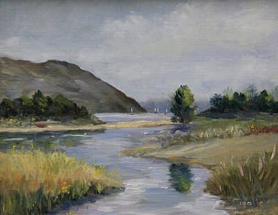Painting - Malibu Lagoon Winter by Jan Cipolla