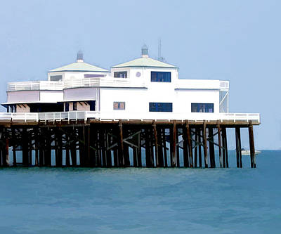 Malibu Painting - Malibu Pier On A California Blue Sky Day by Elaine Plesser