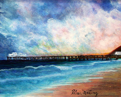 Malibu Painting - Malibu Pier by Pilar  Martinez-Byrne
