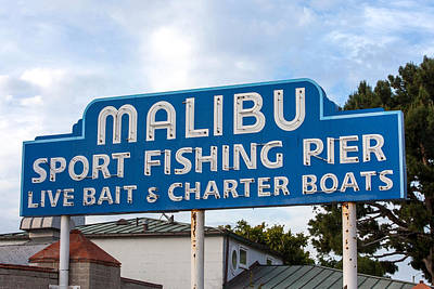 Pch Photograph - Malibu Pier Sign by Art Block Collections
