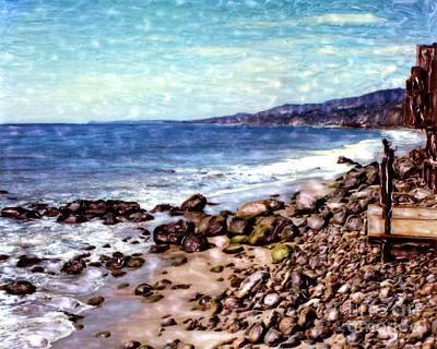 Mixed Media - Malibu Shore by Glenn McNary