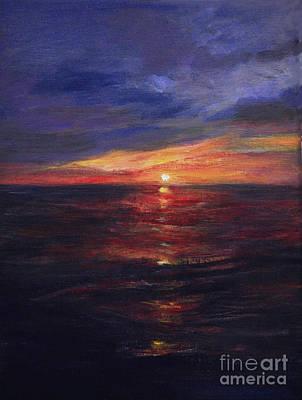 Malibu Sunset Original by Anees Peterman