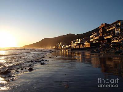 Malibu Topanga Sunset Art Print by Trekkerimages Photography