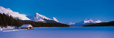 Maligne Lake & Canadian Rockies Alberta Art Print