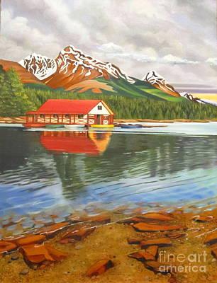 Painting - Maligne Lake Jasper I by Elissa Anthony