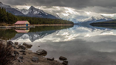 Rockies Photograph - Maligne Lake Jasper by Pierre Leclerc Photography
