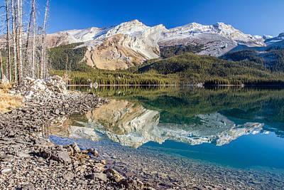 Maligne Lake Reflection Jasper Art Print by Pierre Leclerc Photography