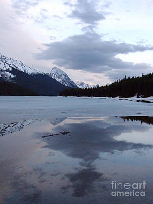 Photograph - Maligne Lake - Reflections by Phil Banks