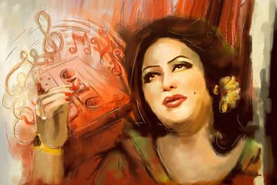 Painting - Malika Tarranum by Catf