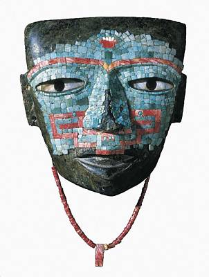 Precolumbian Photograph - Malinaltepec Mask. 300-650. Teotihuacan by Everett