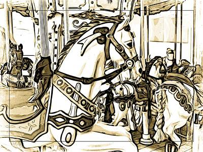 Photograph - Mall Carousel by Alice Gipson