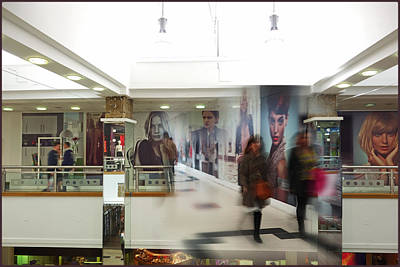 Model Painting - Mall Montage by Charles Stuart