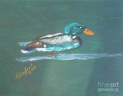 Painting - Mallard Drake 1 by Richard W Linford