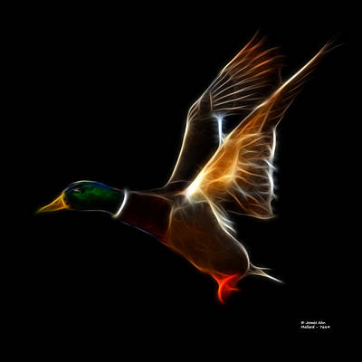 Mixed Media - Mallard Pop Art - 7664 - Bb by James Ahn