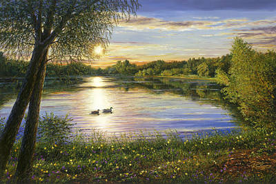 Painting - Mallards Lake by Doug Kreuger