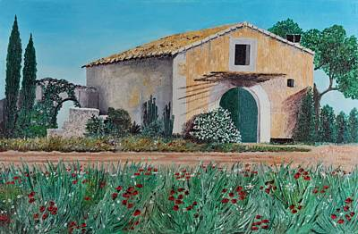 Spanish House Painting - Country House by Manfred Lutzius