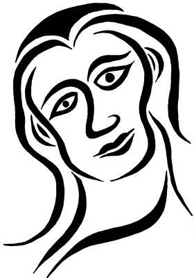 Drawing - Mallory by Beth Akerman