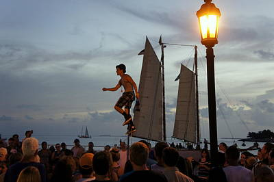 Mallory Square Art Print by Laurie Perry