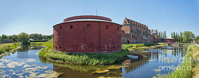 Fantasy Royalty-Free and Rights-Managed Images - Malmohus castle panorama 01 by Antony McAulay