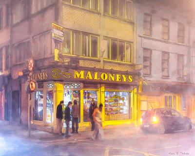 Photograph - Maloneys Corner Shop In Galway by Mark Tisdale