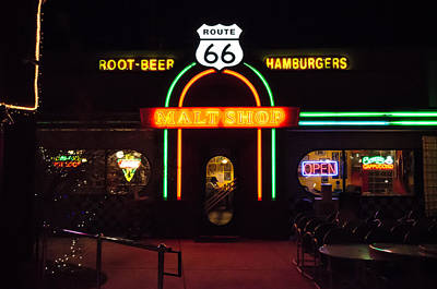 Photograph - Malt Shop On Route 66 by Anthony Doudt