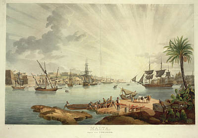 Valletta Photograph - Malta From The Coradino by British Library