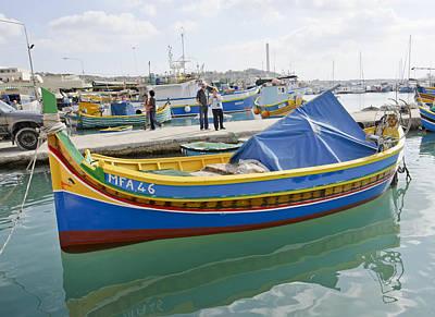 Marsaxlokk Photograph - Maltese Fishing Boat by Bob VonDrachek