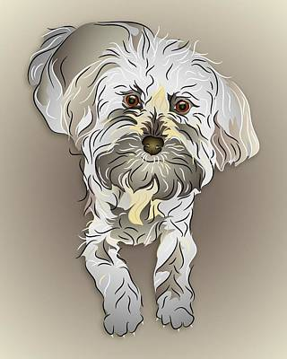 Digital Art - Maltipoo by MM Anderson