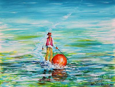 Strolling On The Water Art Print
