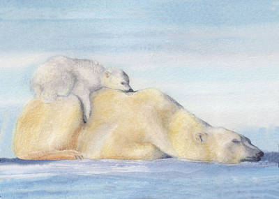 Painting - Mama And Baby Bear by Debbie Lewis