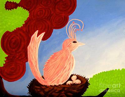 Painting - Mama Bird by Anita Lewis