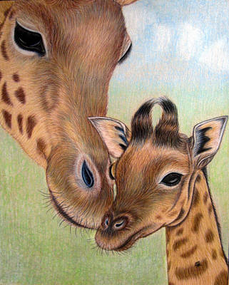 Drawing - Mama Loves Me by Jo Prevost