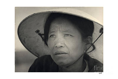 Photograph - Mama San Pleiku Central Highlands Vietnam 1968 by California Views Archives Mr Pat Hathaway Archives
