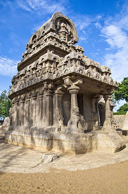 Photograph - Mamallapuram Temple by Ross G Strachan