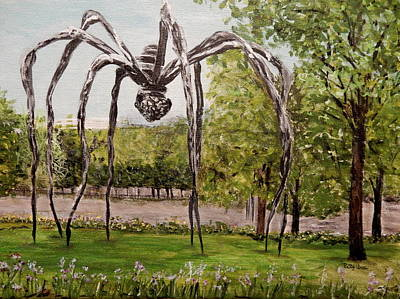 Painting - Maman Standing Guard by Betty-Anne McDonald
