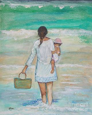 Painting - Mama's Beach Day by Leslie Allen