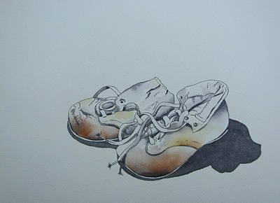 Painting - Mama's First Shoes-cira1930 by Ramona Kraemer-Dobson