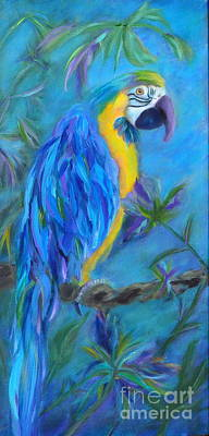 Macaw Painting - Mambo by Lynn Rattray