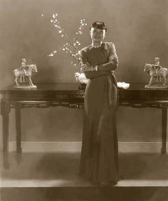 Chinese Ethnicity Photograph - Mamie Sze Smiling by Edward Steichen